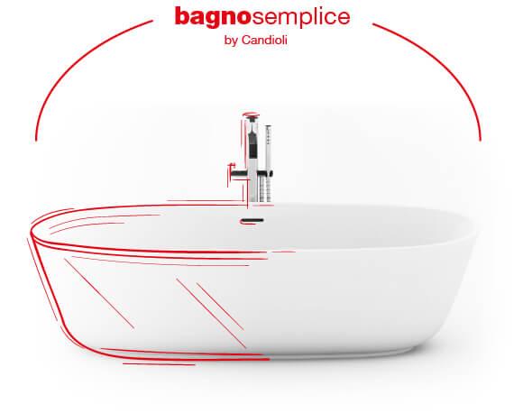 Bagno semplice by Candioli